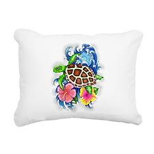 Tropical Sea Turtle Rectangular Canvas Pillow