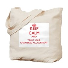 Keep Calm and trust your Chartered Accountant Tote