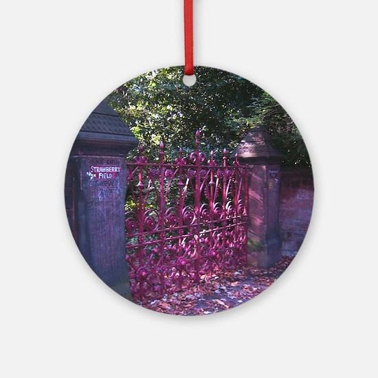 Strawberry Fields Gates Round Ornament