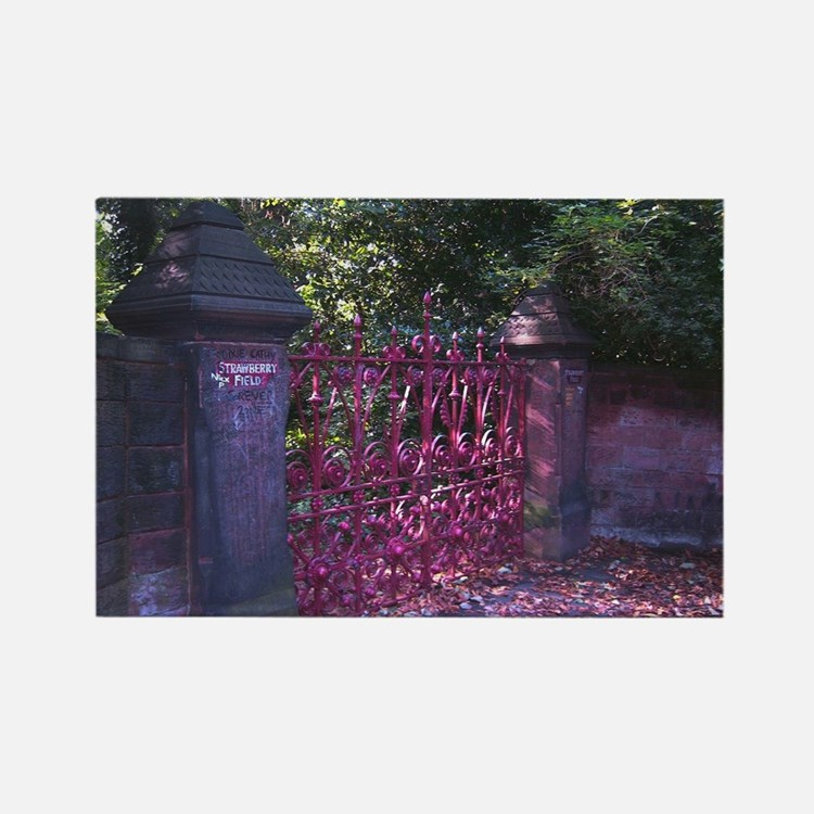 Strawberry Fields Gates Rectangle Magnet