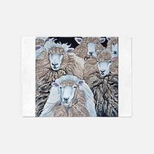 SheepHerd Original Farm Art 5'x7'Area Rug