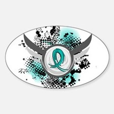 Scleroderma GrungeRibbonWings1 Sticker (Oval)