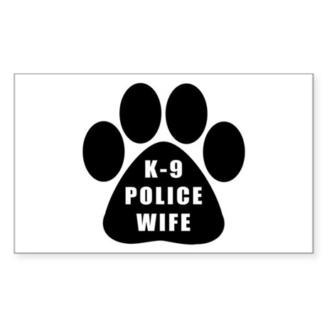 K-9 Police Wife Rectangle Sticker