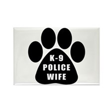 K-9 Police Wife Rectangle Magnet