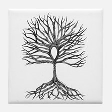 Ankh Tree of LIfe Tile Coaster