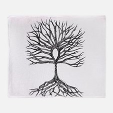 Ankh Tree of LIfe Throw Blanket