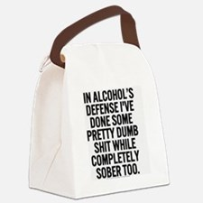 alcohol's defense Canvas Lunch Bag