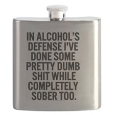 alcohol's defense Flask