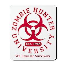 A Zombie Hunter University Mousepad