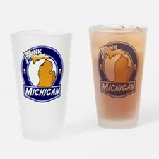 Drink Michigan Drinking Glass