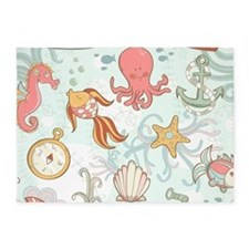 Underwater Fun 5'x7'area Rug