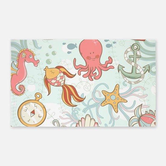 Underwater Fun 3'x5' Area Rug