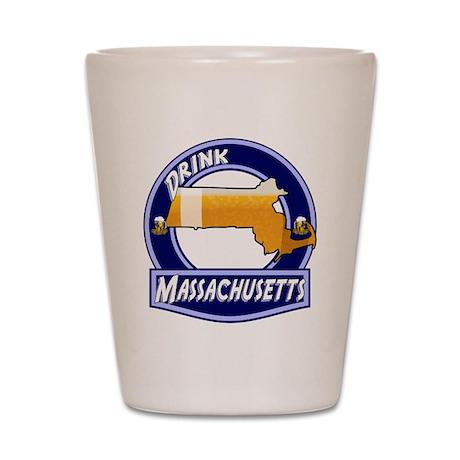 Drink Massachusetts Shot Glass