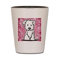 Westie Collage Painting Shot Glass