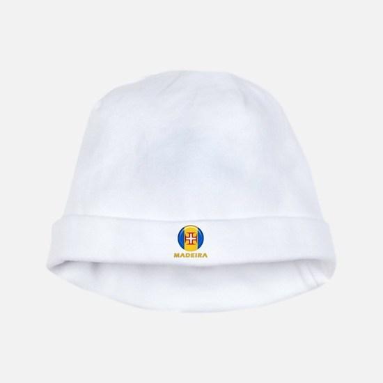 Madeira islands flag baby hat
