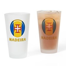 Madeira islands flag Drinking Glass