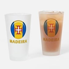Madeira islands flag Drinking Glass