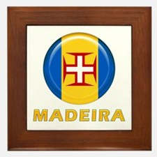 Madeira islands flag Framed Tile