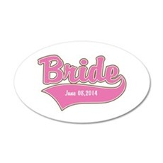 Bride Personalized 20x12 Oval Wall Decal