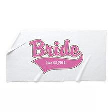 Bride Personalized Beach Towel