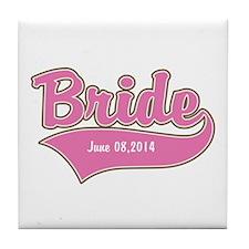 Bride Personalized Tile Coaster