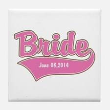 Bride Personalized Tile Coaster
