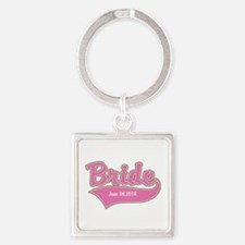 Bride Personalized Square Keychain
