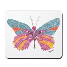 Butterfly Blogger Original Art Mousepad