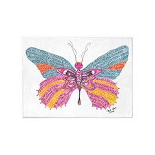 Butterfly Blogger Original Art 5'x7'Area Rug