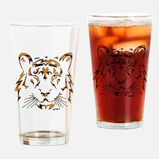 Striped Tribal Tiger Drinking Glass