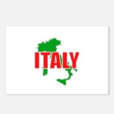 Italy Map Postcards (Package of 8)