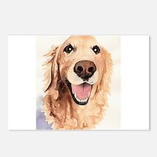 Golden Retriever Merchandise Postcards (Package of