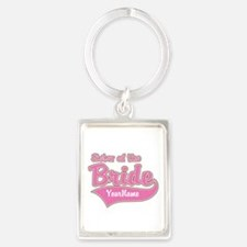 Sister of the Bride Portrait Keychain