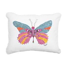 Butterfly Blogger Origin Rectangular Canvas Pillow