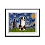 Starry - Tri Aussie Shep2 Framed Panel Print