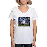Starry - Tri Aussie Shep2 Women's V-Neck T-Shirt