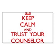 Keep Calm and trust your Counselor Decal