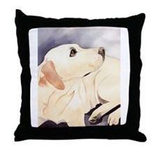 Yellow Lab #1 Items Throw Pillow