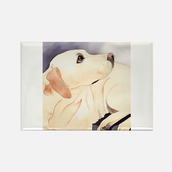 Yellow Lab #1 Items Rectangle Magnet