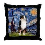 Starry - Tri Aussie Shep2 Throw Pillow
