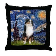 Starry - Tri Aussie Shep2 Throw Pillow