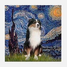 Starry - Tri Aussie Shep2 Tile Coaster