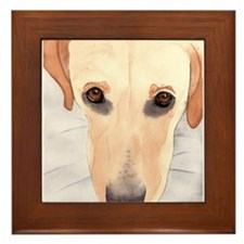 Yellow Lab #3 Stuff Framed Tile