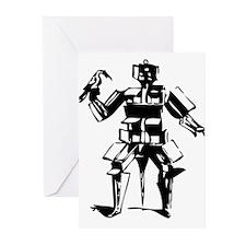 Robot with bird Greeting Cards (Pk of 10)