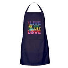 Live Let Love Statue of Liberty Apron (dark)