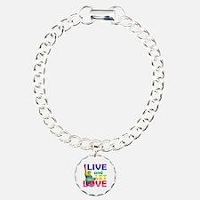 Live Let Love Statue of  Bracelet