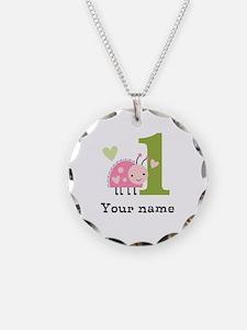 Ladybug (1) Necklace Circle Charm