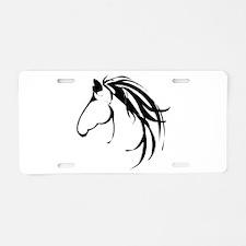 Classic Horse Head logo Aluminum License Plate