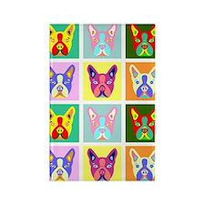 Boston Terrier Pop Art Rectangle Magnet