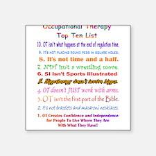 """Cute Speech therapy funny Square Sticker 3"""" x 3"""""""